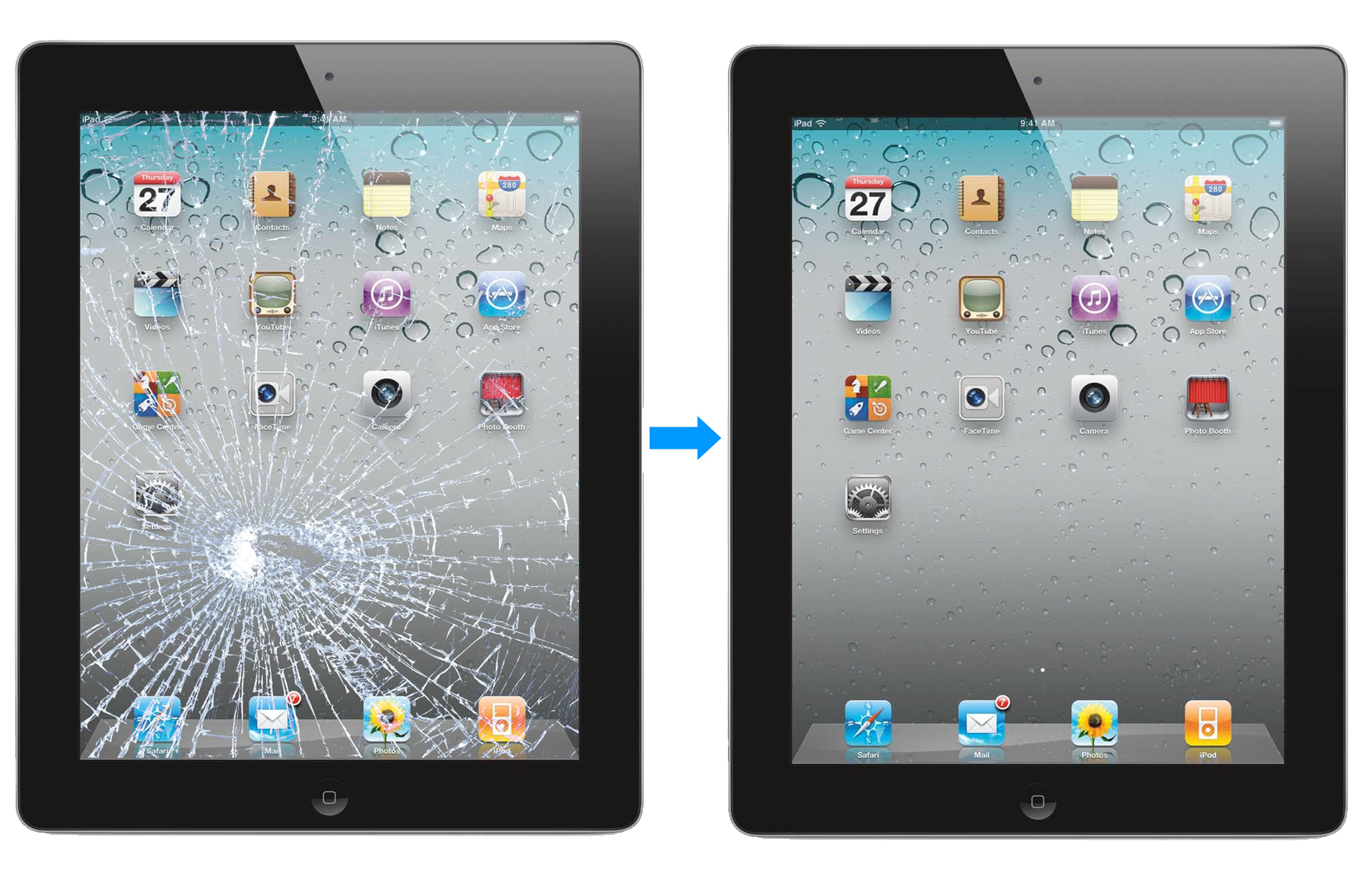 IPad Repair Before And After